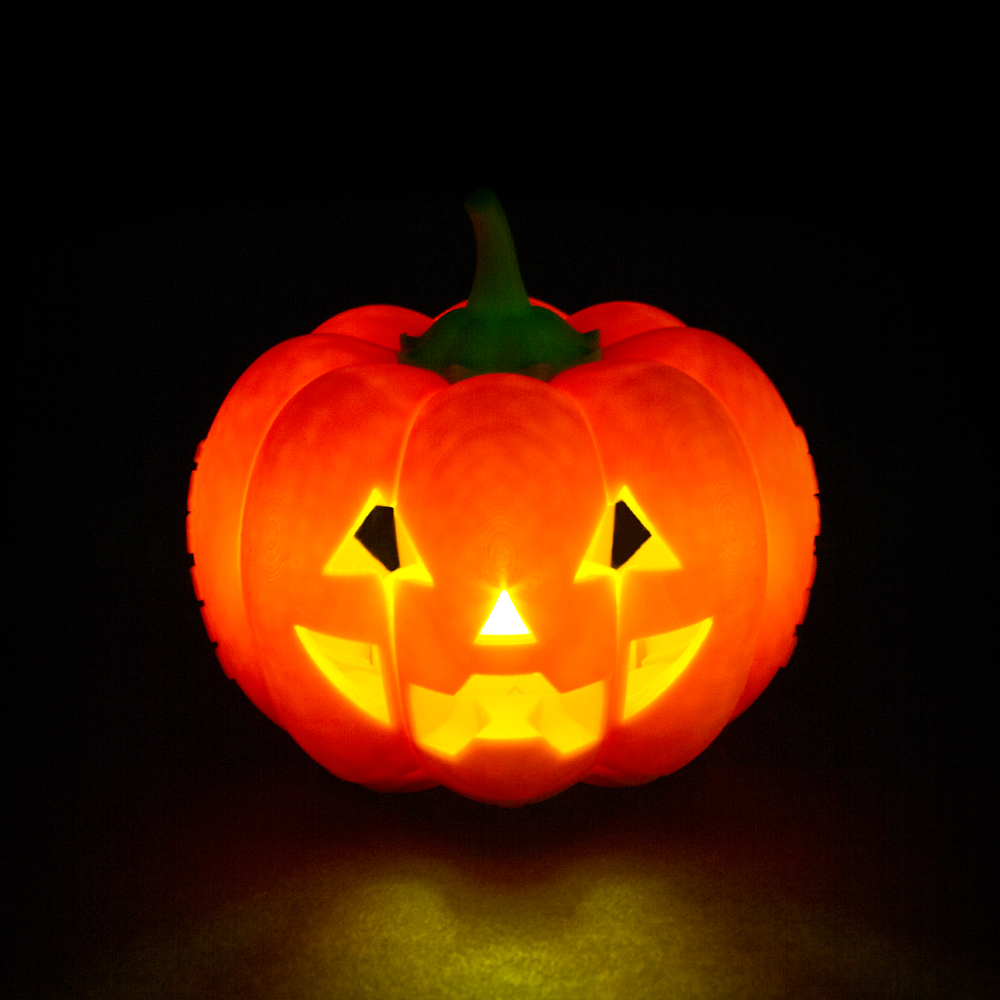 Foldable jack O lantern -  Carved face